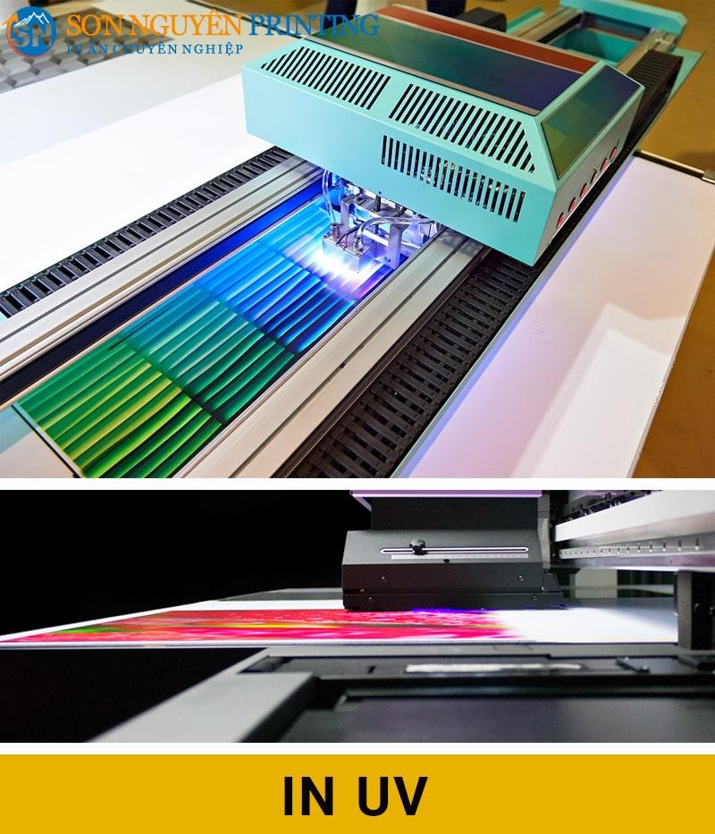 Dịch vụ in UV tại xưởng in Sơn Nguyên