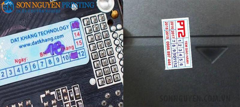 Tem vỡ thường dán trên các con ốc hay vị trí mở của đồ điện tử