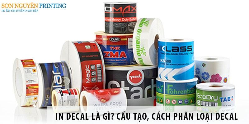 Những chất liệu được dùng để in decal phổ biến