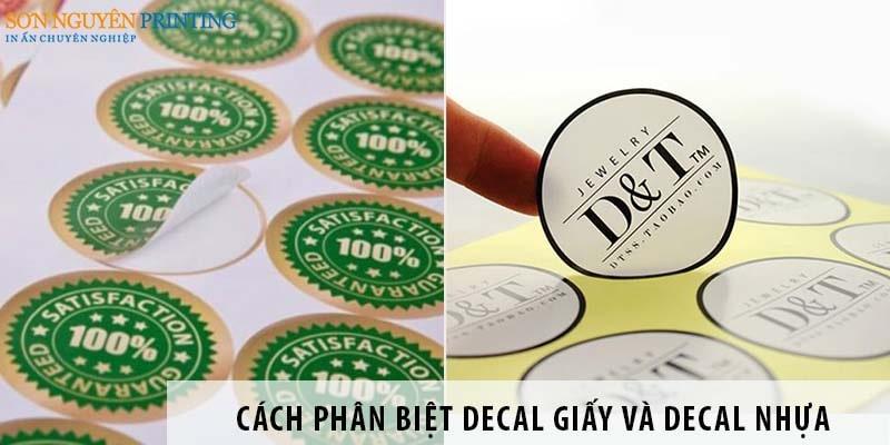 Cách phân biệt decal giấy và decal nhựa