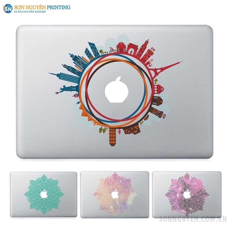Dán decal lưới trên laptop