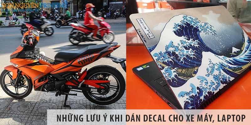 Những lưu ý khi dán decal cho xe máy, laptop