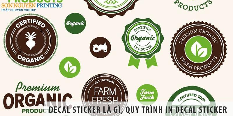 Decal sticker là gì, decal sticker quy trình in thế nào?