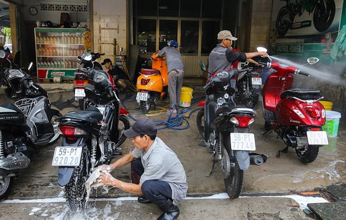 Biện pháp rửa xe khi máy còn nóng hiệu quả