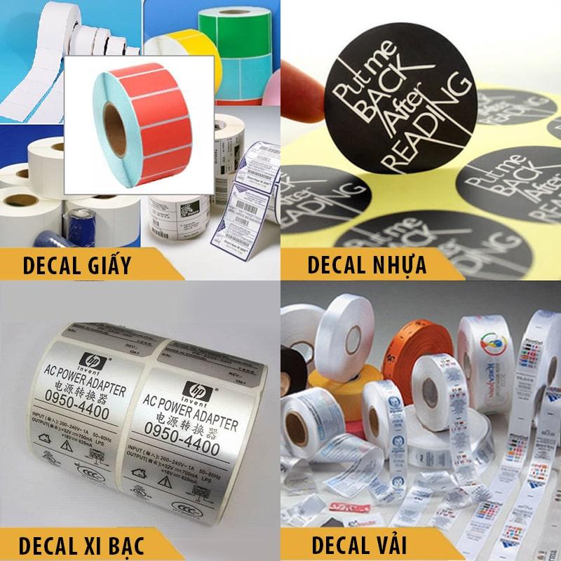 Các chất liệu in tem nhãn decal phổ biến