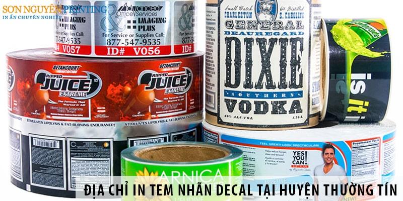 Địa chỉ in tem nhãn decal giá rẻ tại huyện Thường Tín