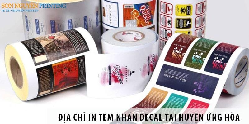 Địa chỉ in tem nhãn decal giá rẻ tại huyện Ứng Hòa