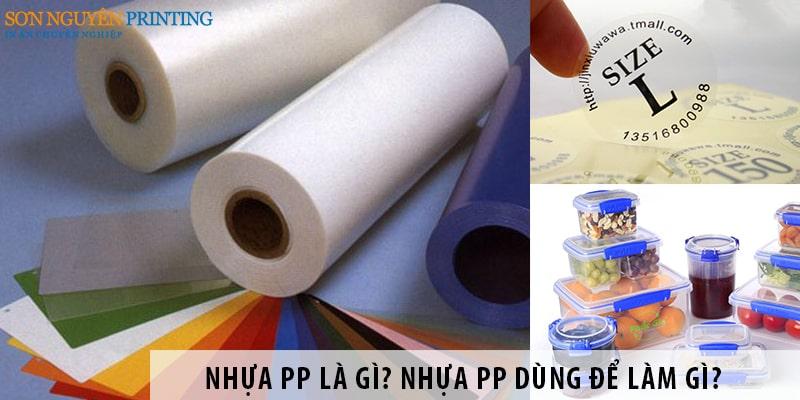 Nhựa PP là gì? Nhựa PP dùng để làm gì?