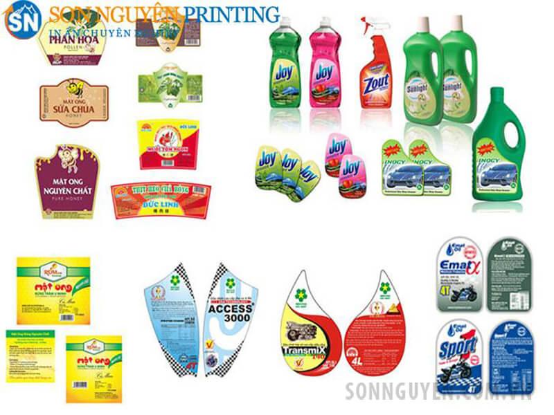 Các loại tem sticker với nhiều hình dáng, kích thước, màu sắc khác nhau