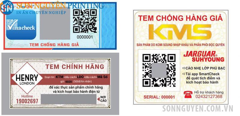 Các loại tem bảo hành điện tử