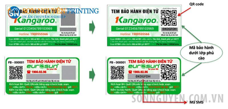 tem bảo hành điện tử
