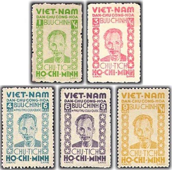 Bộ tem do họa sĩ Nguyễn Sáng thiết kế - Những chiếc tem thư đầu tiên tại Việt Nam